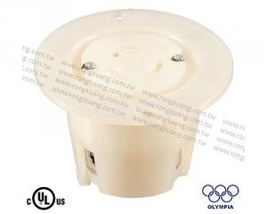 NEMA L5-15 Flanged outlet locking receptacle