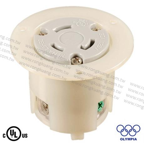 NEMA L5-30 Locking Flanged Outlet
